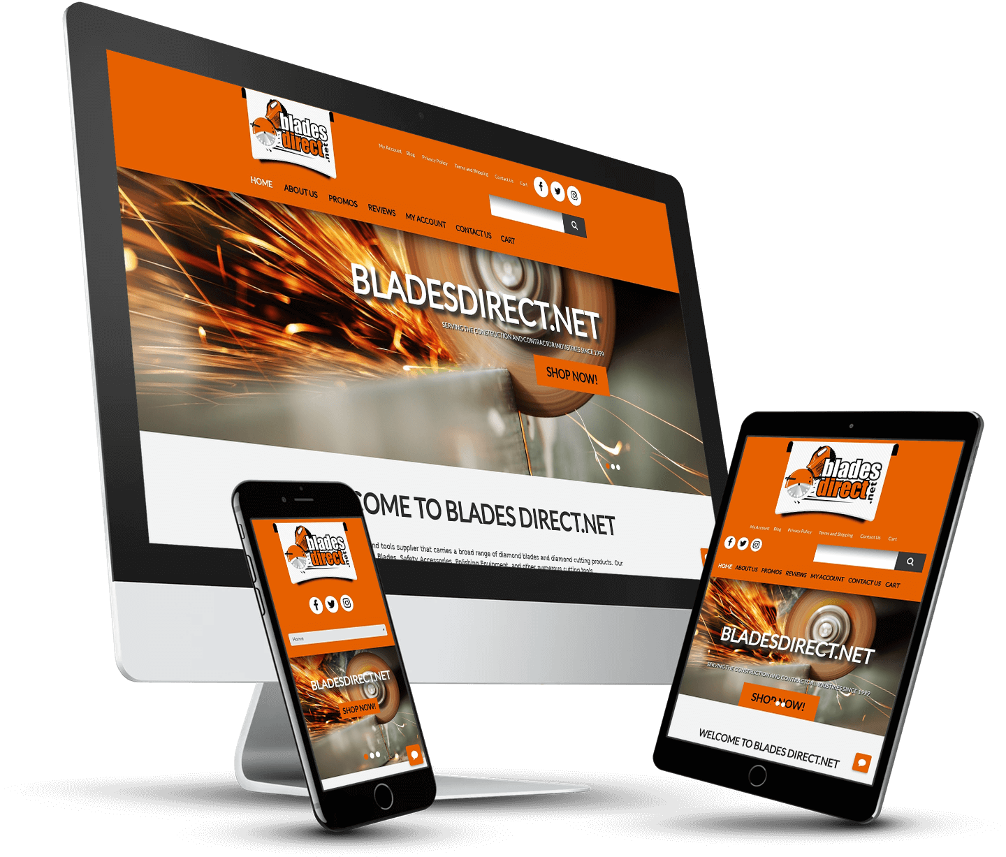 Blades Direct WordPress Website Design & Content Marketing