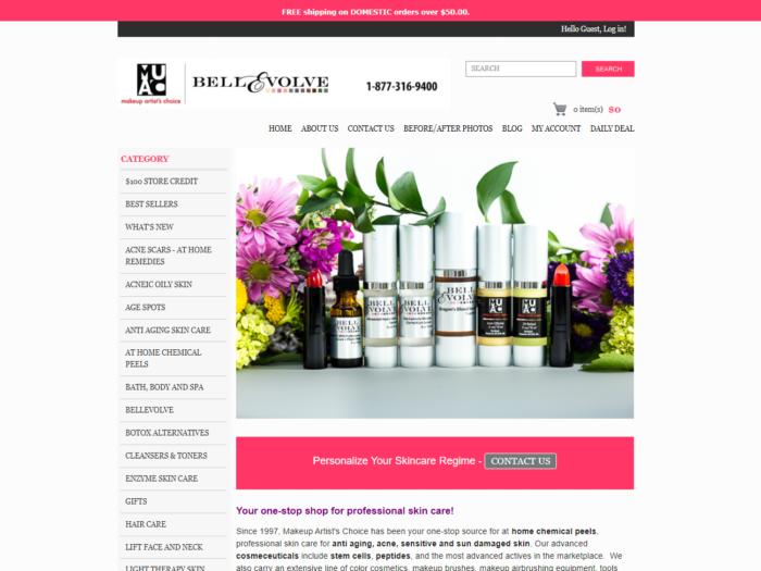 Makeup Artists Choice 3dcart Website Design by Notch Solutions
