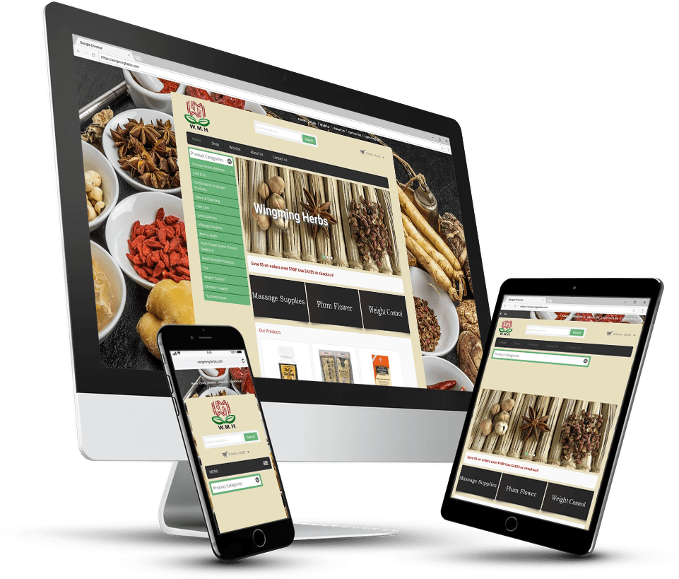 Wingming Herbs Wordpress Website Design
