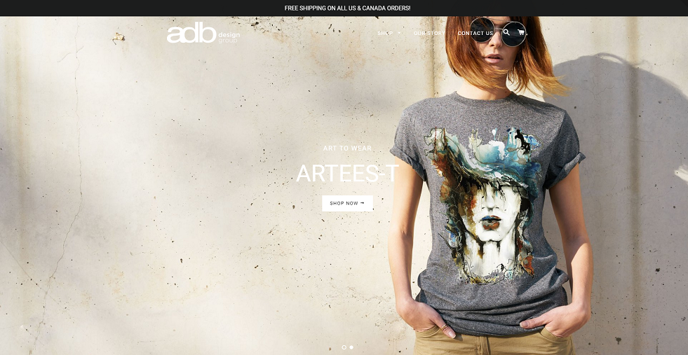 ADB Design Group Shopify Website Design by Notch Solutions