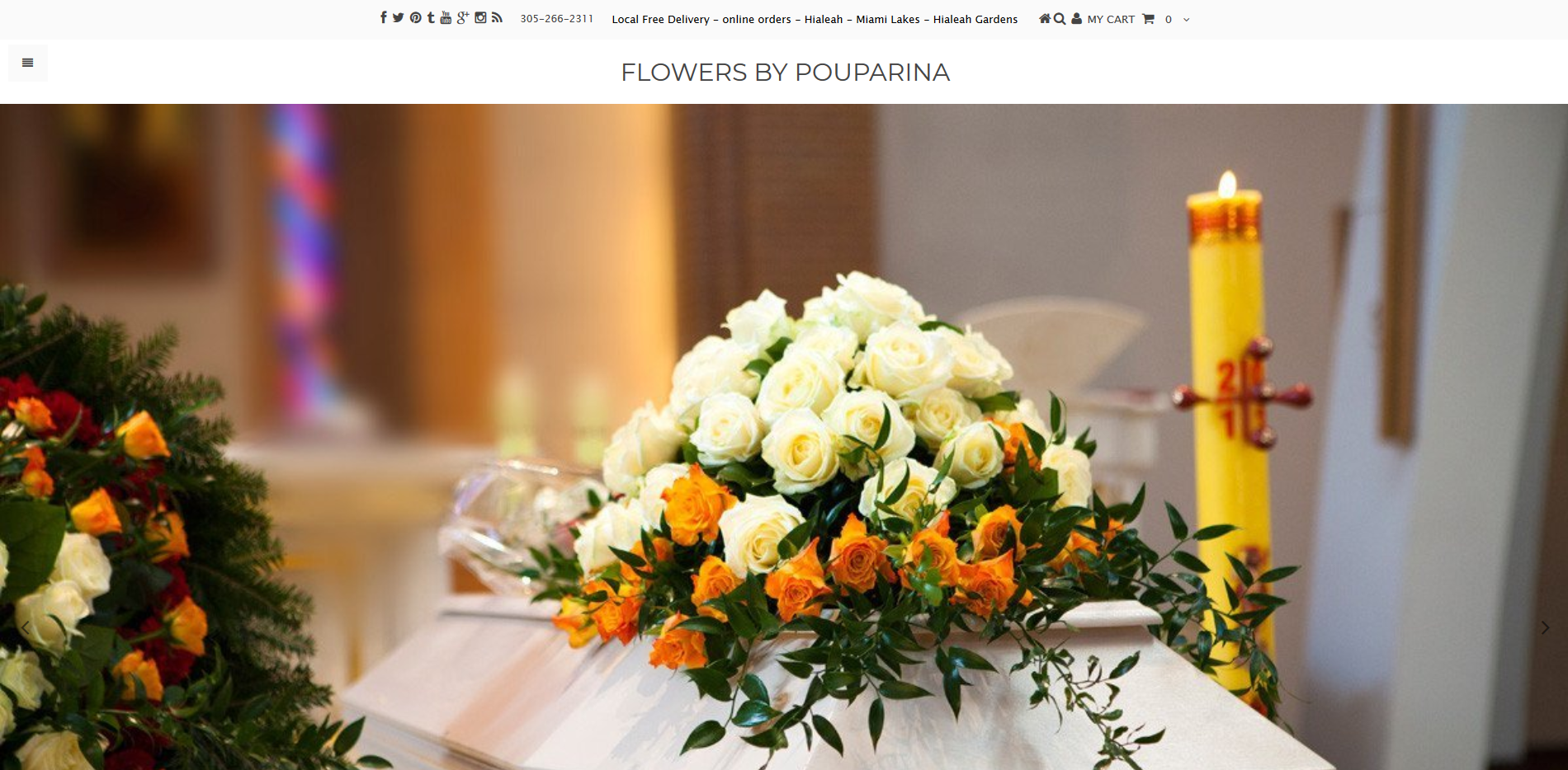 Flowers By Pouparina Shopify Website Design by Notch Solutions