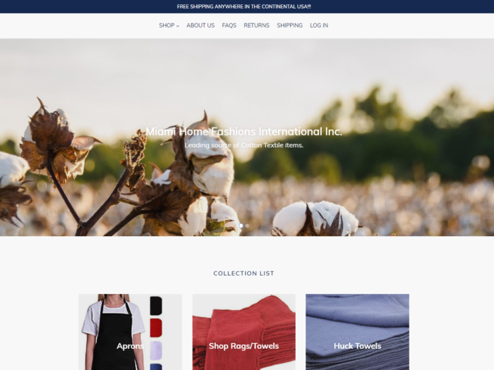 Miami Home Fashions Shopify Website Design by Notch Solutions