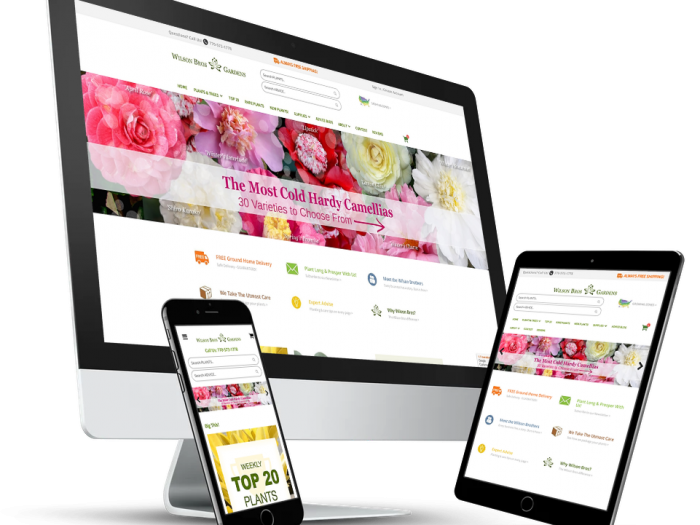 Wilson Bros Gardens Website Development By Notch Solutions