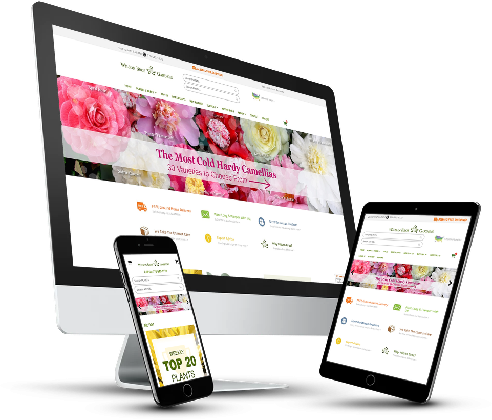 Wilson Bros Gardens Website Development By Notch Solutions